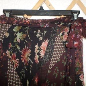 Polo by Ralph Lauren Skirts - POLO BY RALPH LAUREN SILK FAUX WRAP SKIRT SIZE 10